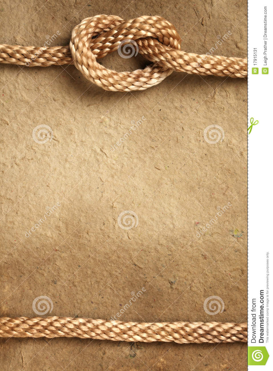 paper with rope border stock image