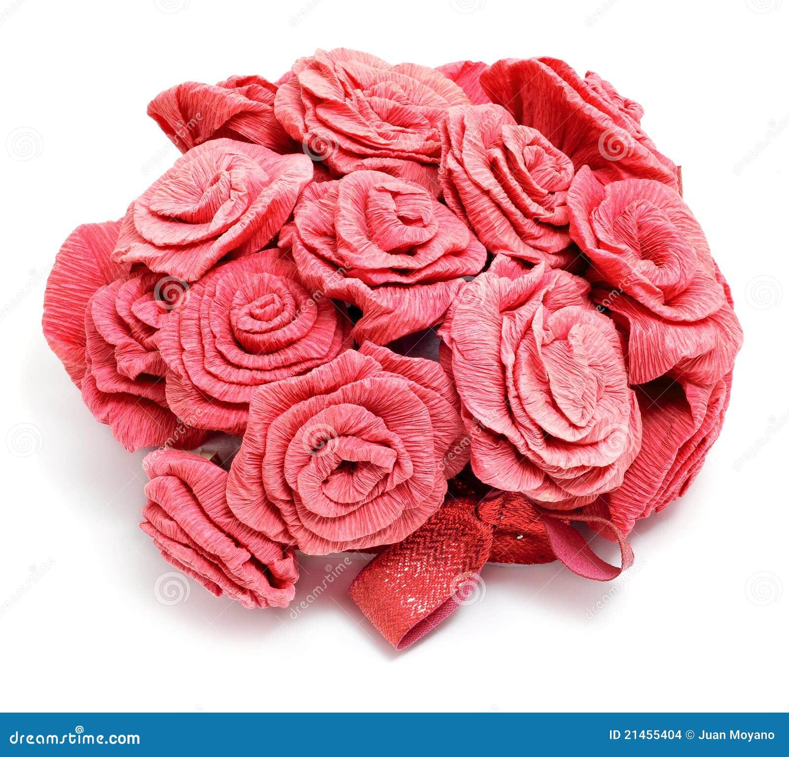 Букет из бумаги розы