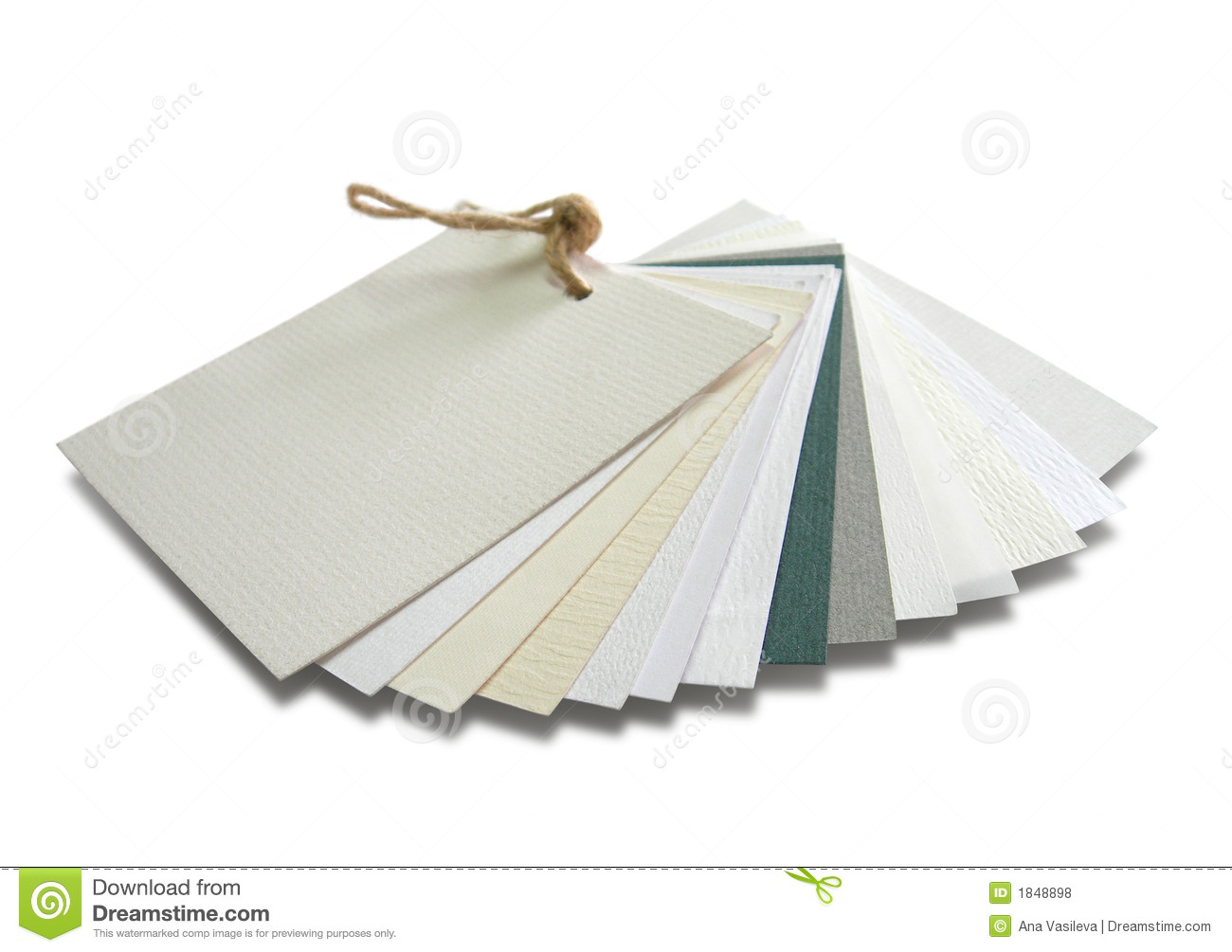 Paper Samples With Various Textures Royalty Free Stock Photos Image