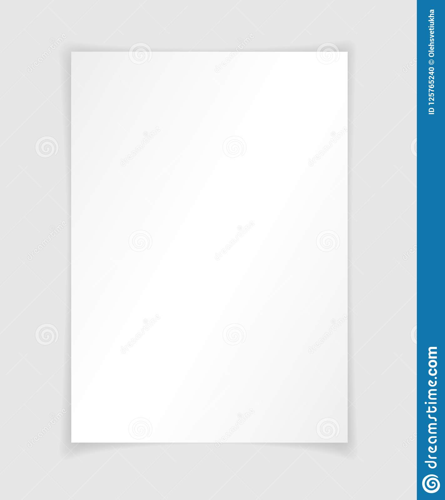 a4 paper with shadow design template vector stock vector