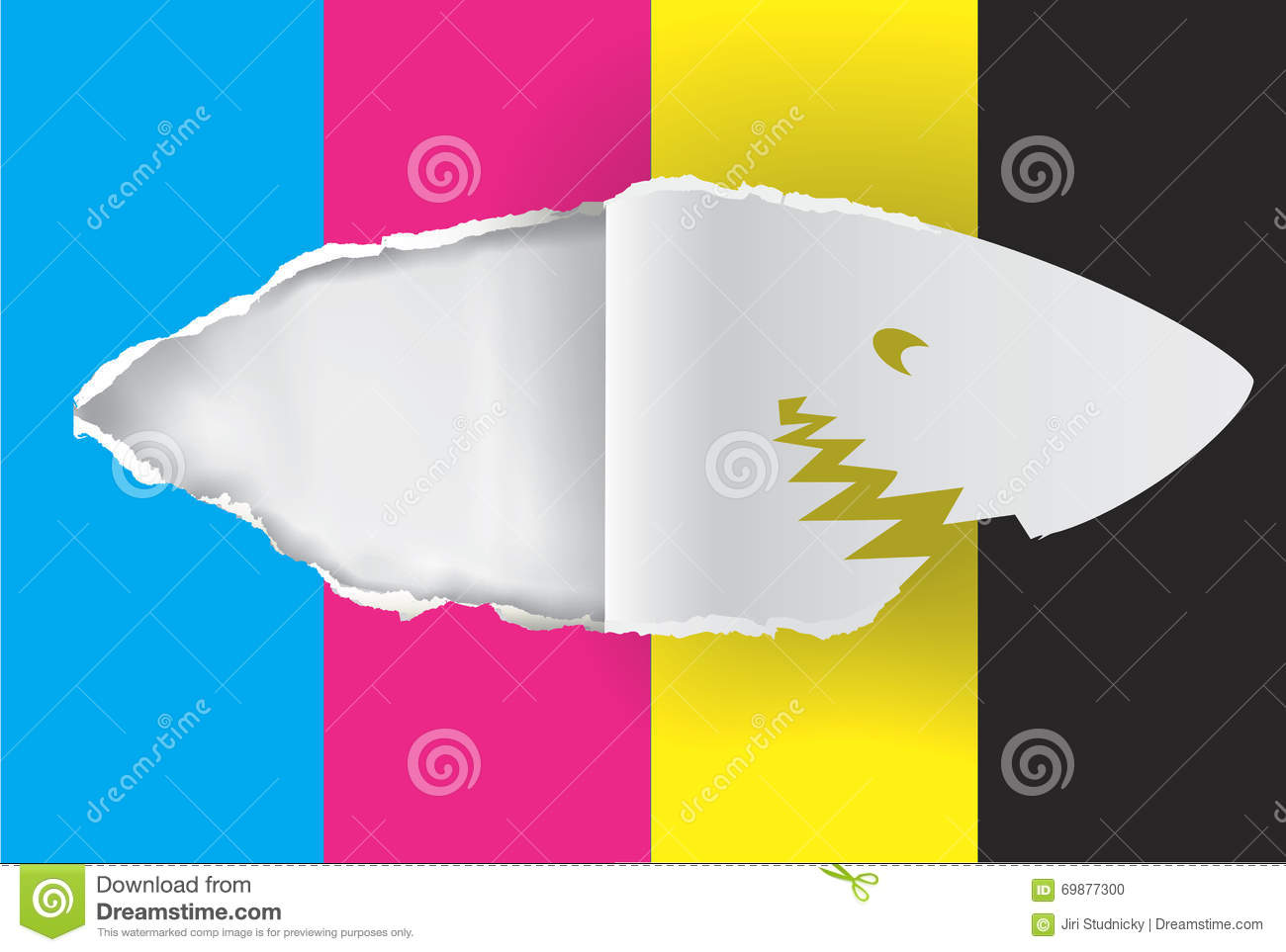 shark paper royalty stock photography image  paper shark print colors stock photo
