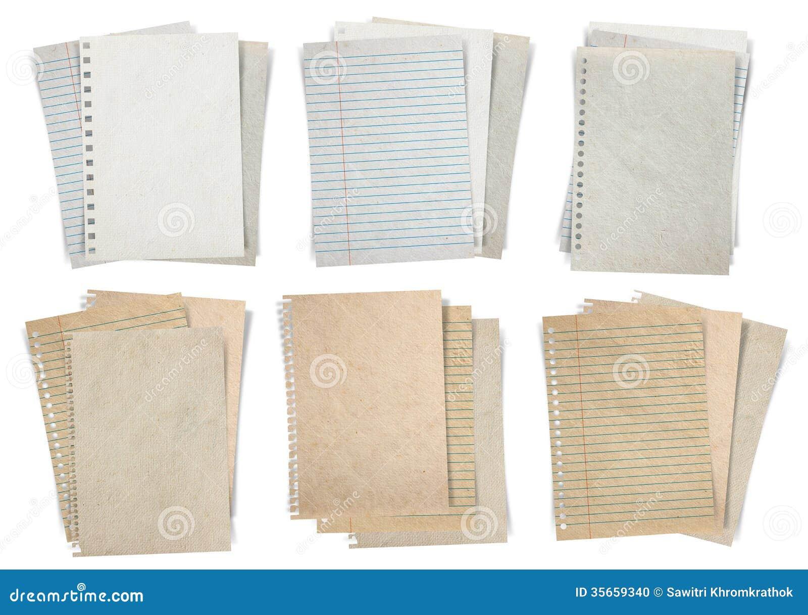 Paper Sheet Isolated On White Background Stock Photo ...