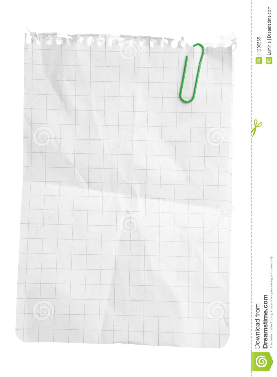 Paper Sheet with Paper Clip