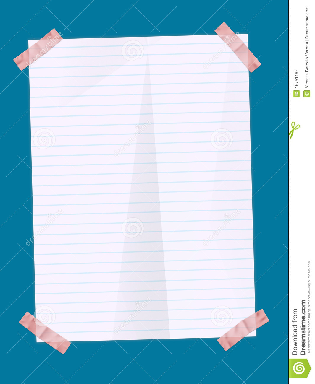 Paper Sheet With Stickers Stock Photography - Image: 16751162
