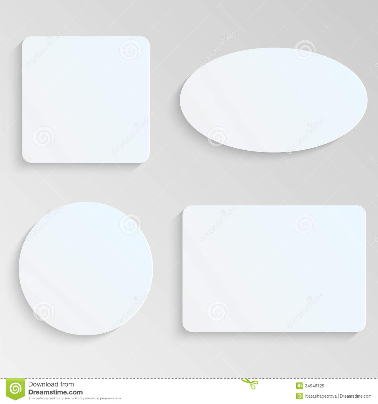 paper sheets stock vector image of gray form cardboard