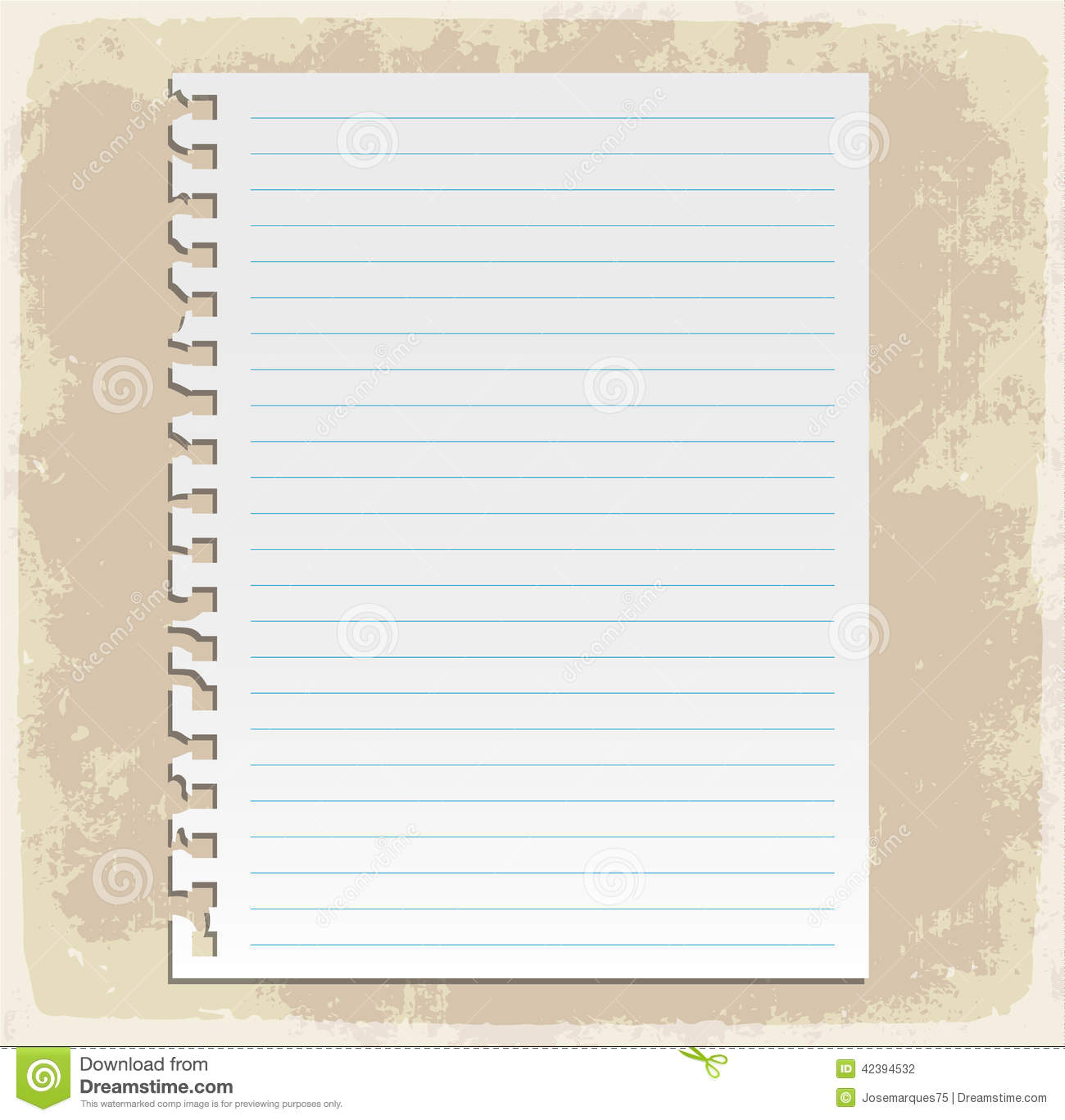 Paper Sheets, Lined Paper And Note Paper Stock Vector
