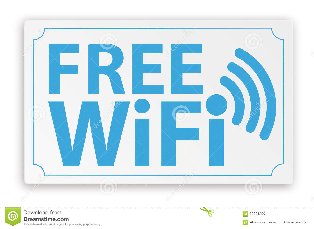 Paper Sign Free WiFi