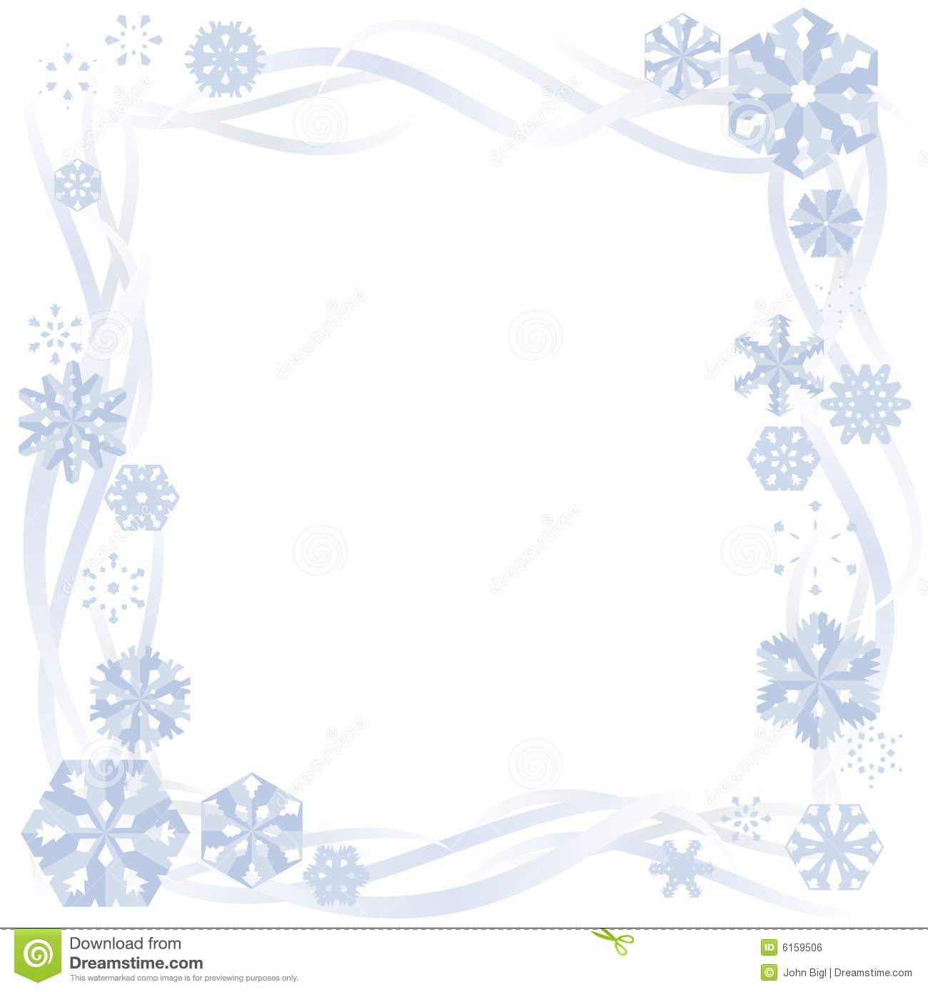 paper snowflake border stock vector illustration of flake 6159506 rh dreamstime com snowflake corner border clipart christmas snowflake border clipart