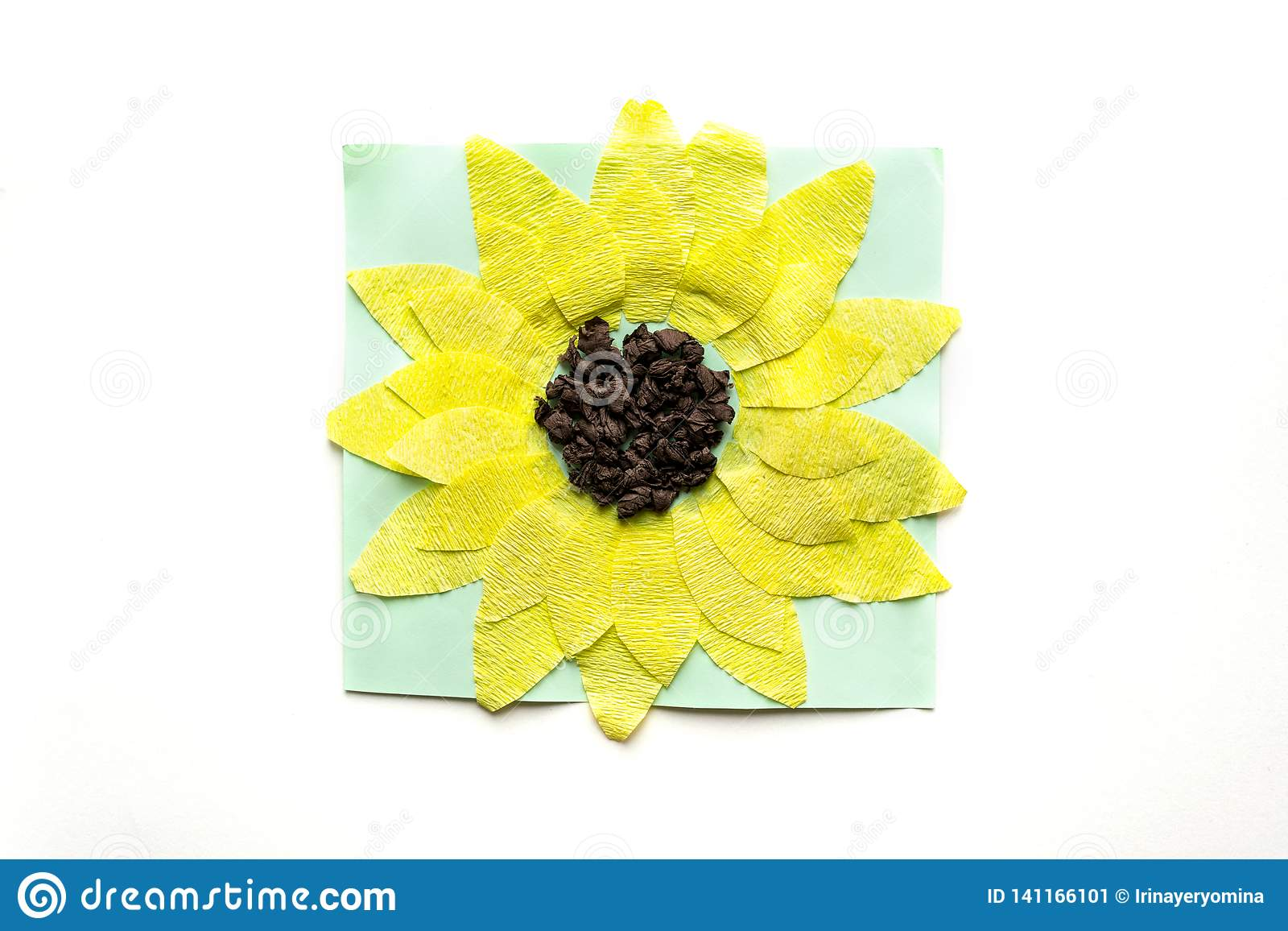 Paper Sunflower Preschool Arts Crafts Activities Easy Crafts