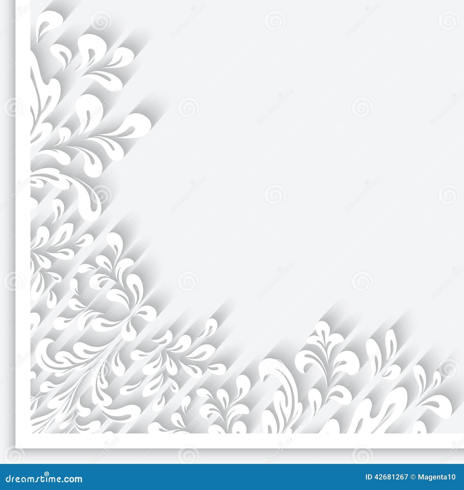Paper swirls corner ornament stock vector illustration for Paper swirl decorations