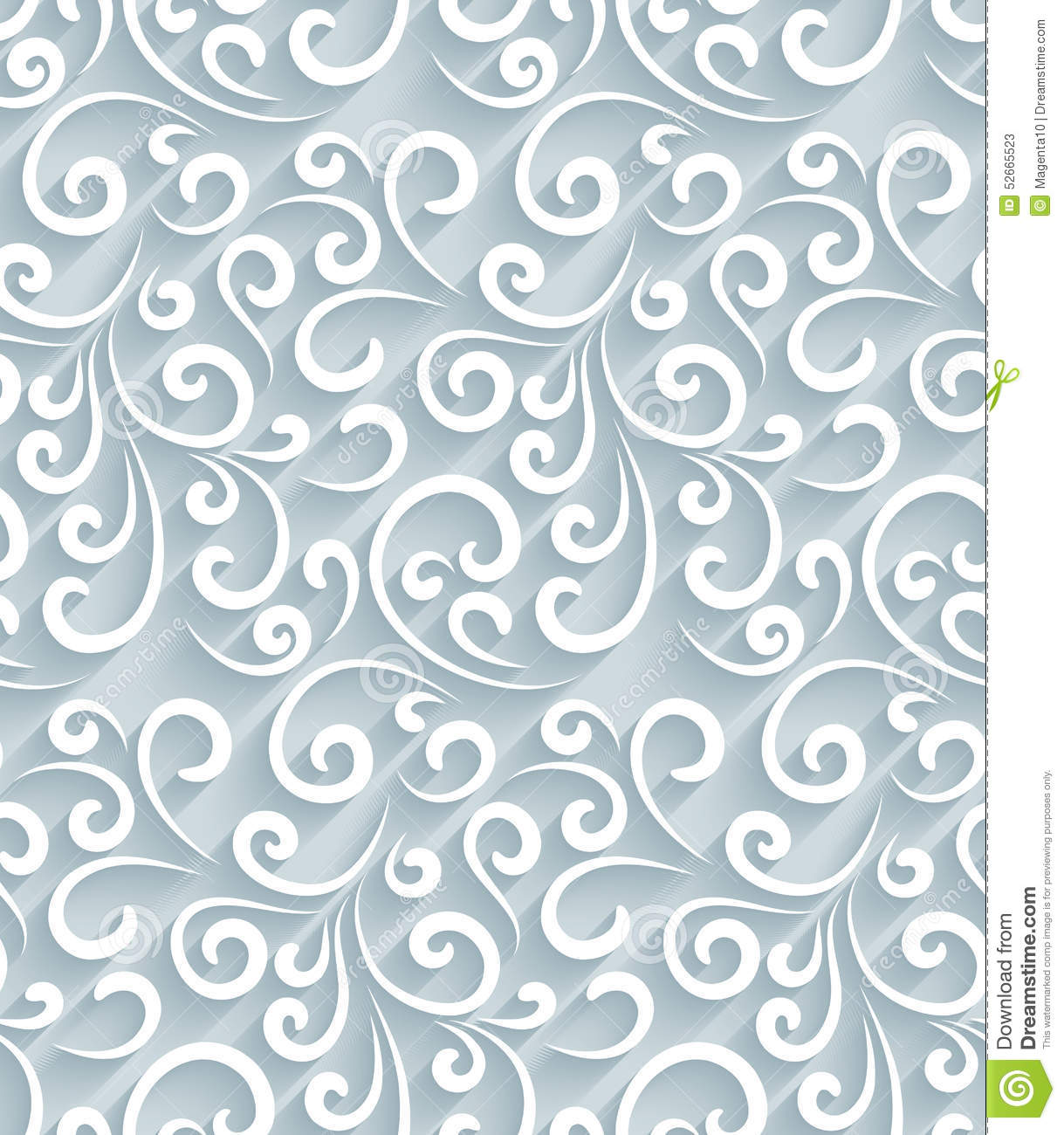 Paper Swirls Pattern Stock Vector Image 52665523