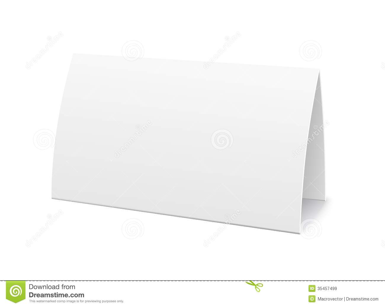 Paper Table Card Sign Template Royalty Free Stock Images