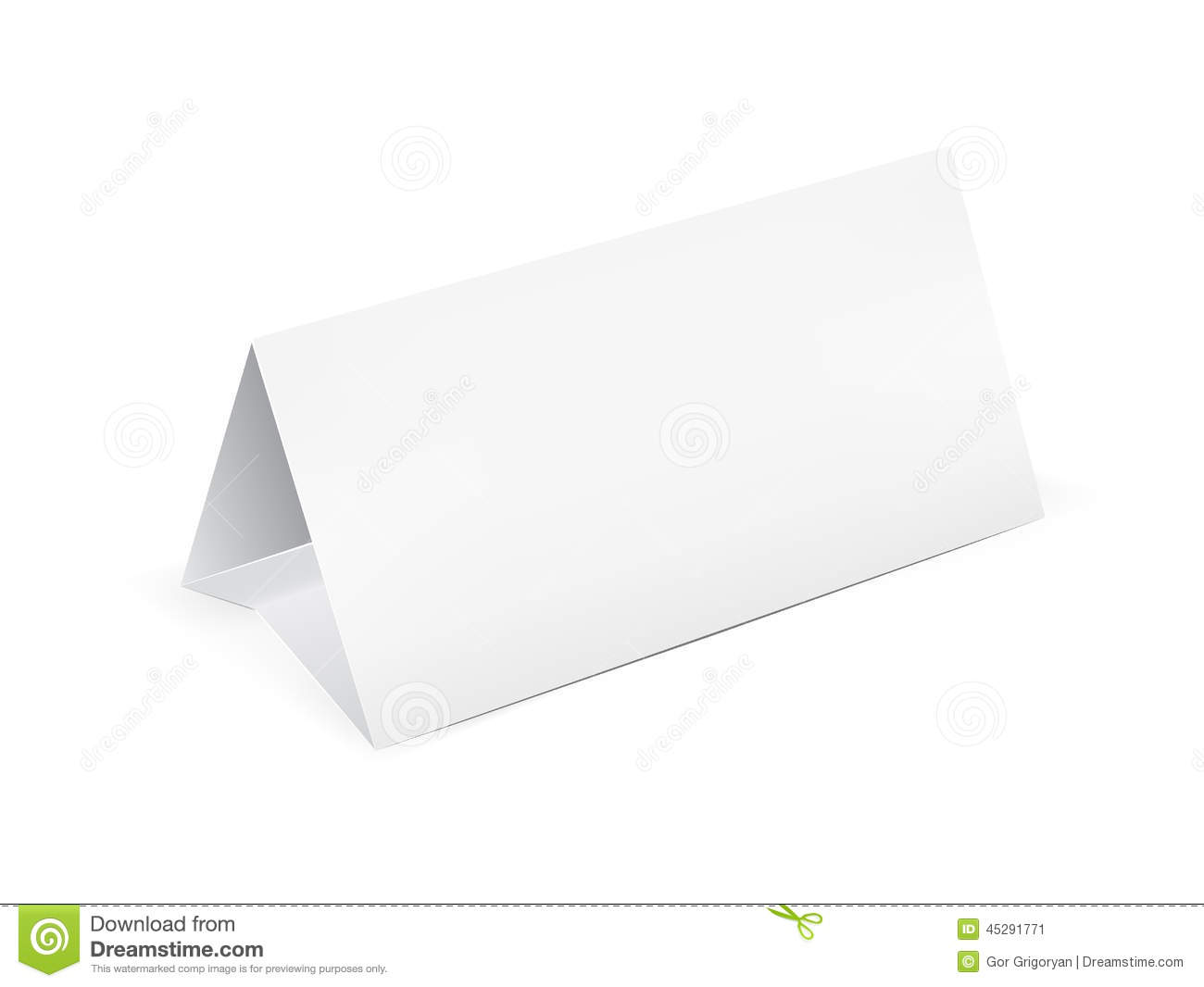Paper Table Card Stock Vector Image 45291771