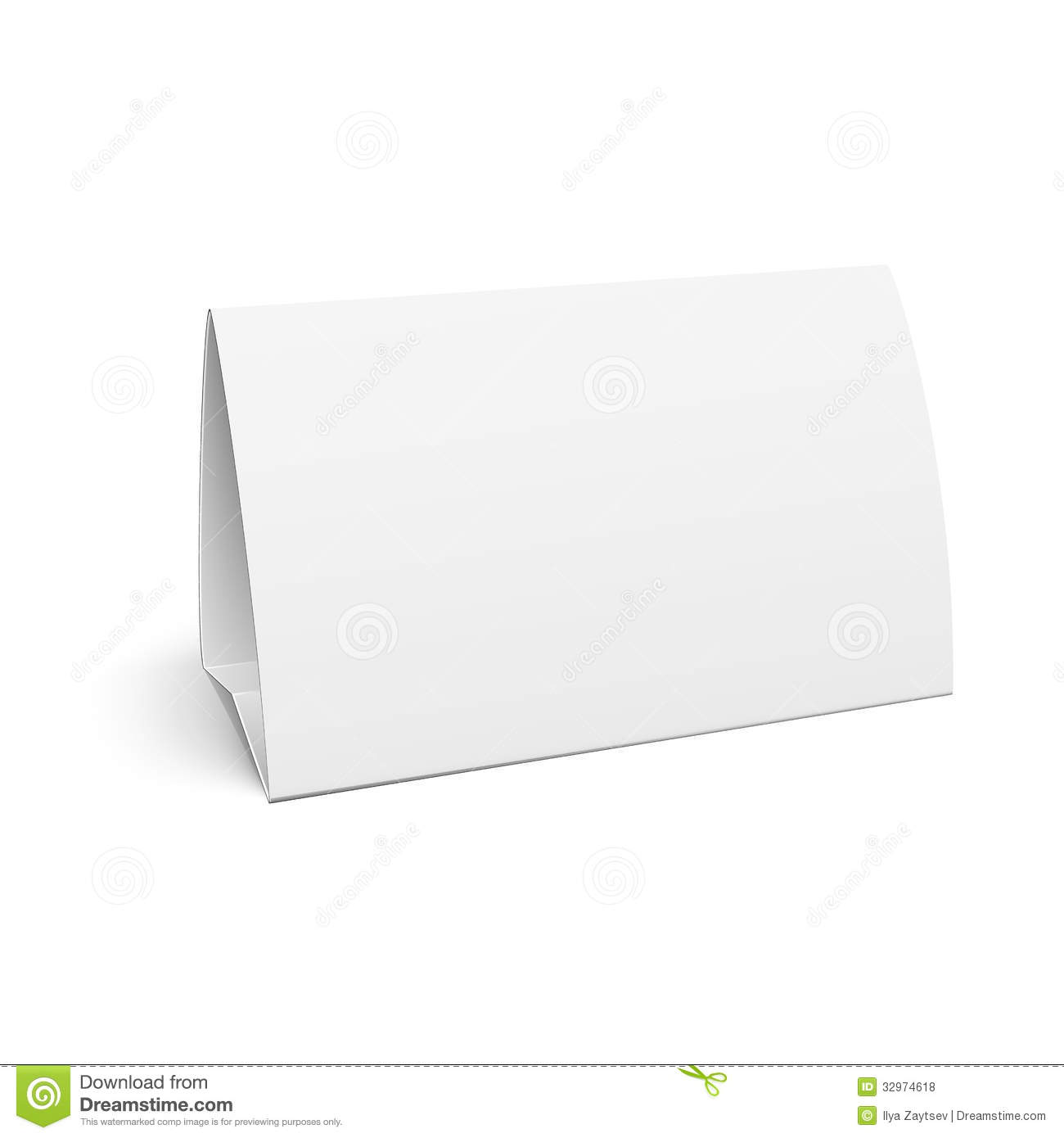 Paper Table Card. Royalty Free Stock Photos - Image: 32974618