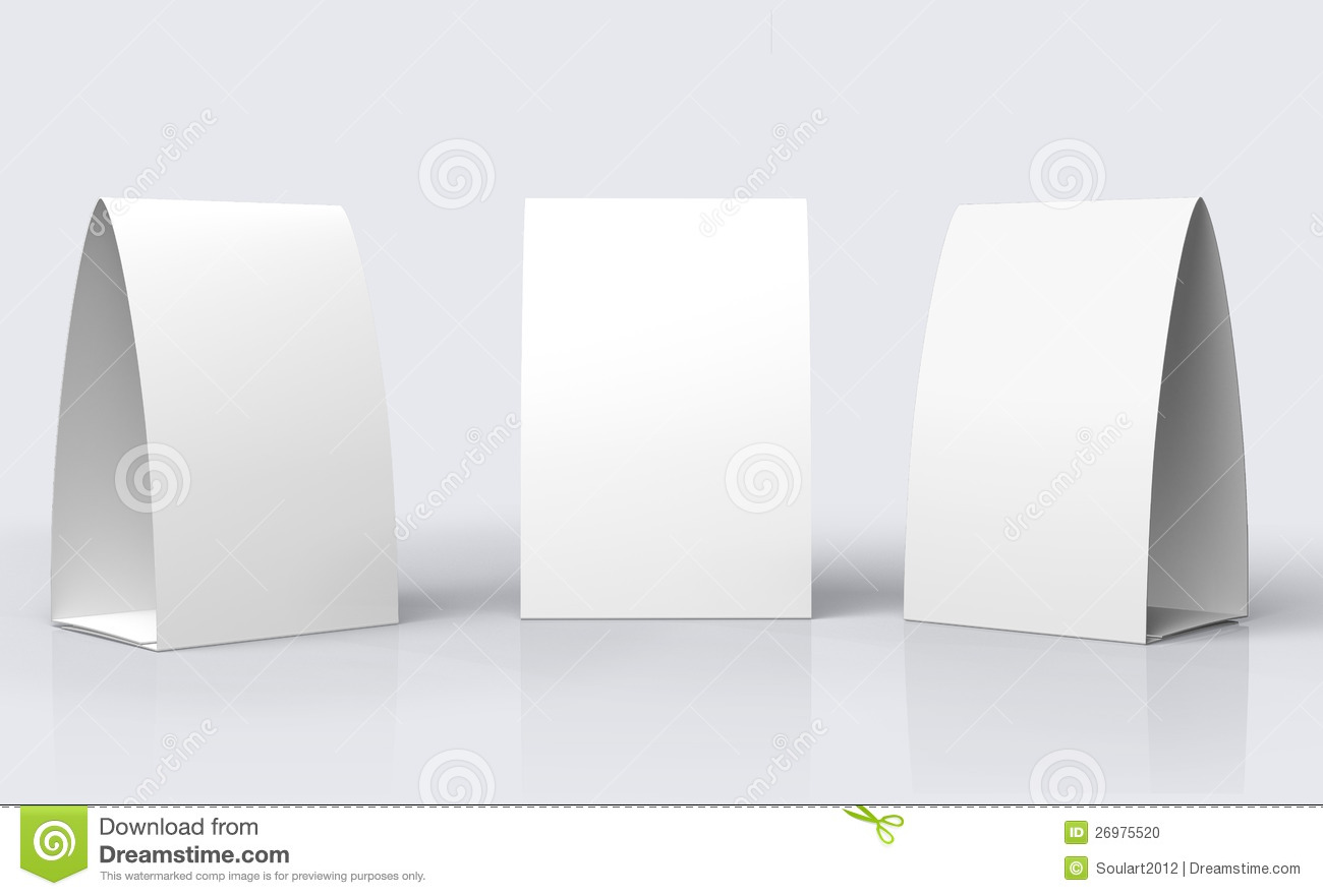 Paper Table Tent Stock Photo Image 26975520