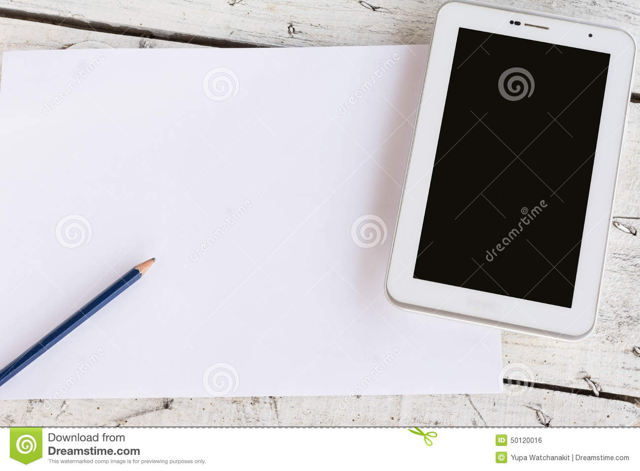 Paper With Tablet Text Frame Stock Photo - Image of concept ...