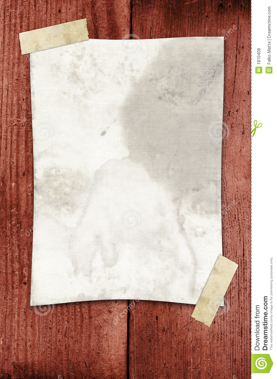 Paper taped to a wall stock photo image of dirty open for Wall to wall paper