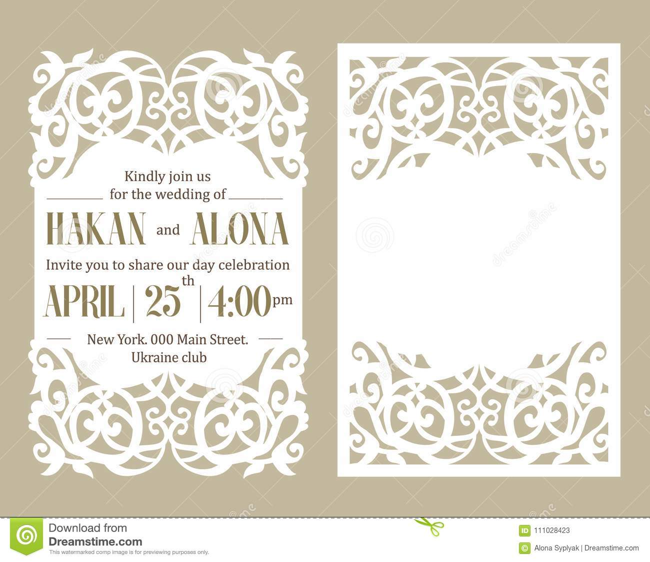 Paper Template Invitation Baby Shower, Wedding, Birthday, Baptism ...