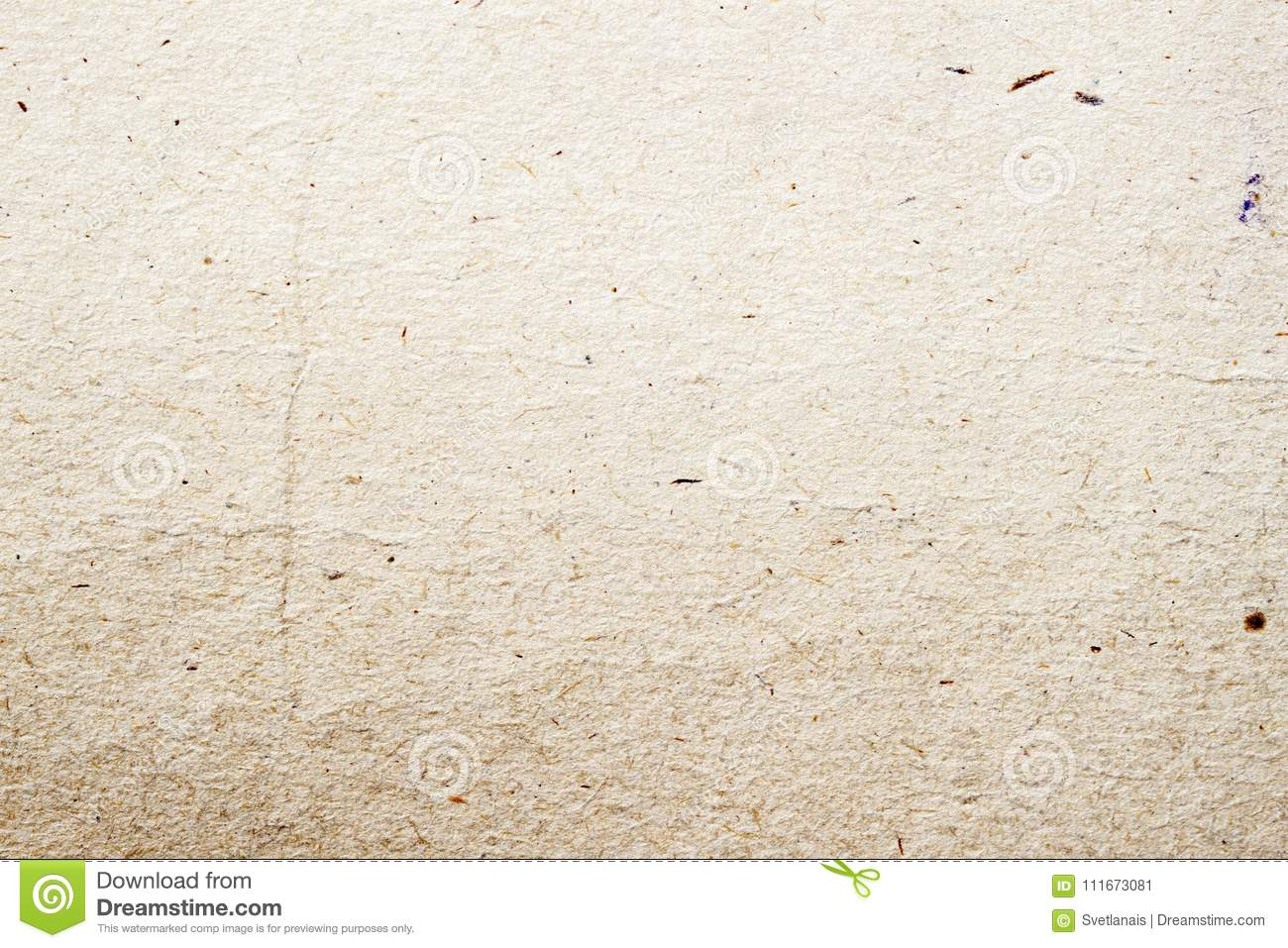 Paper texture organic cardboard background close-up. Grunge vintage ecological paper surface with cellulose, fragments