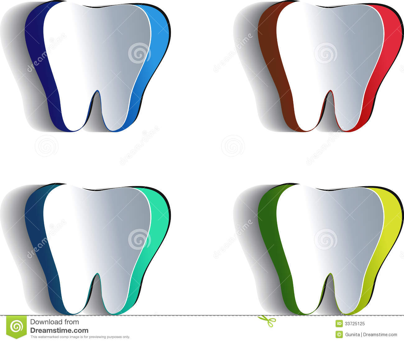 blue paper research technology tooth