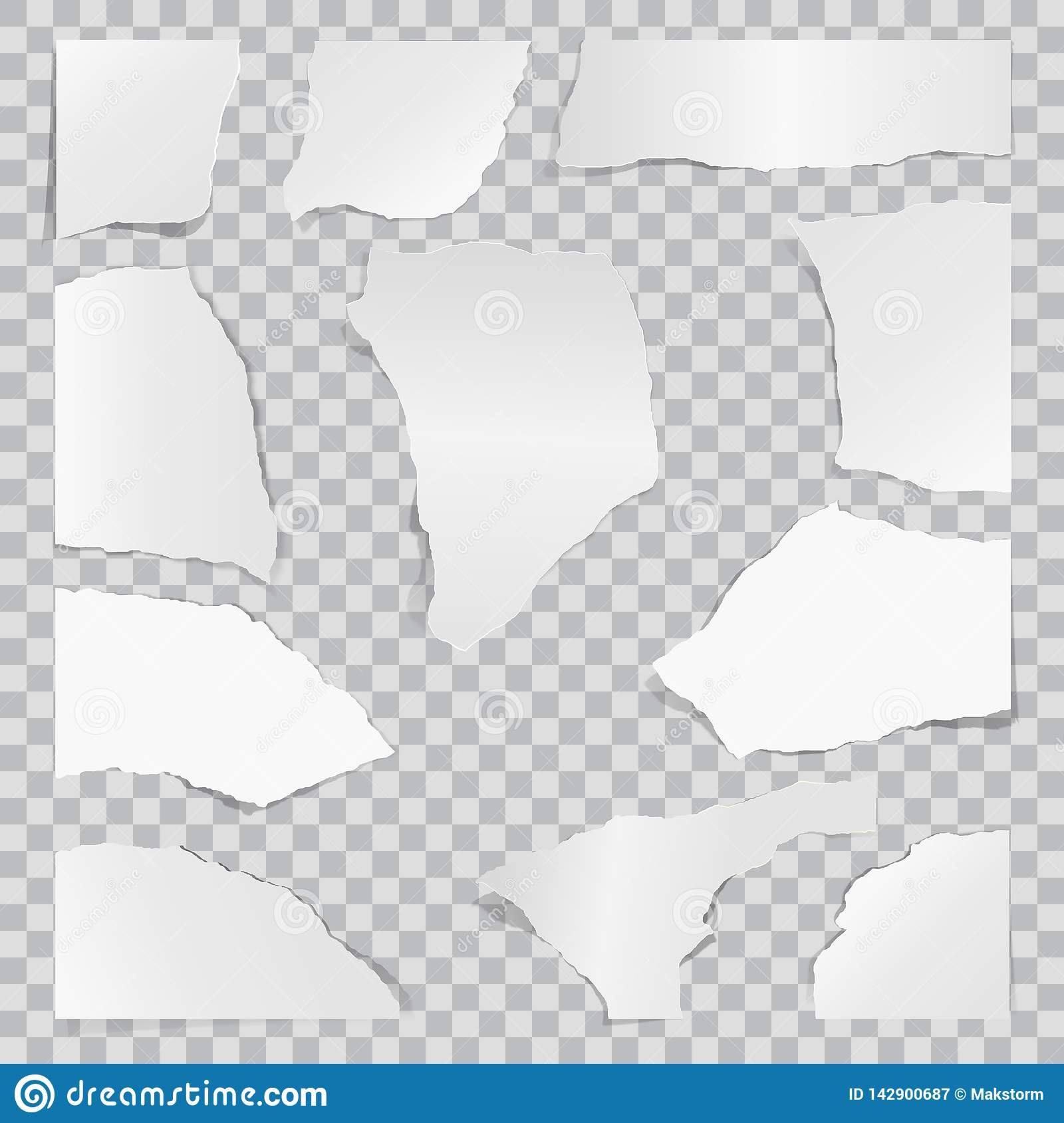 Paper torn to pieces. Scrap paper. Web banner background