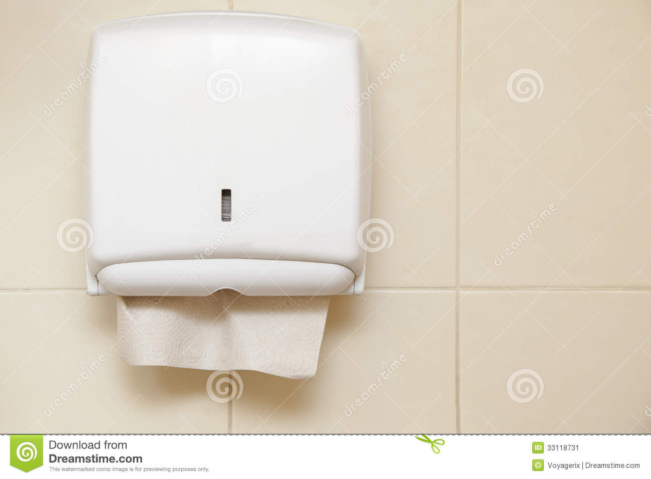 Paper Towel Dispenser In The Bathroom Stock Image Image 33118731