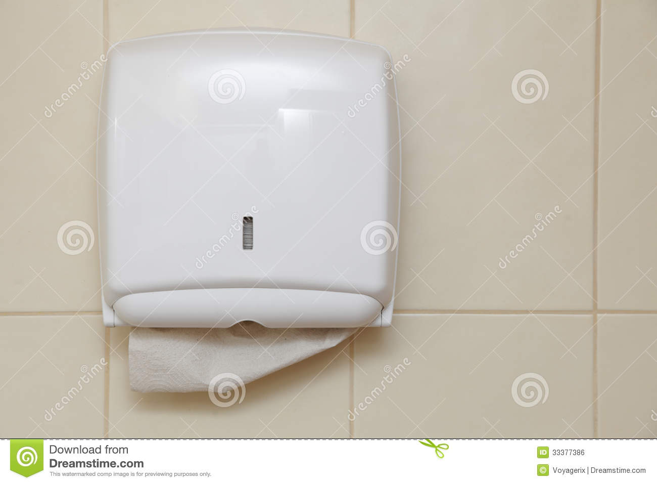 Paper Towel Dispenser In The Bathroom Royalty Free Stock Image Image 33377386