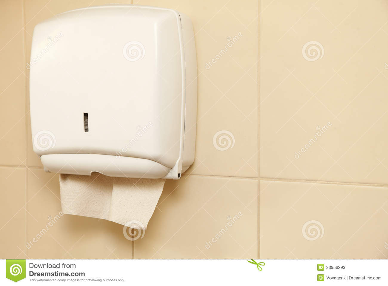 Paper Towel Dispenser In The Bathroom Stock Photos Image 33956293