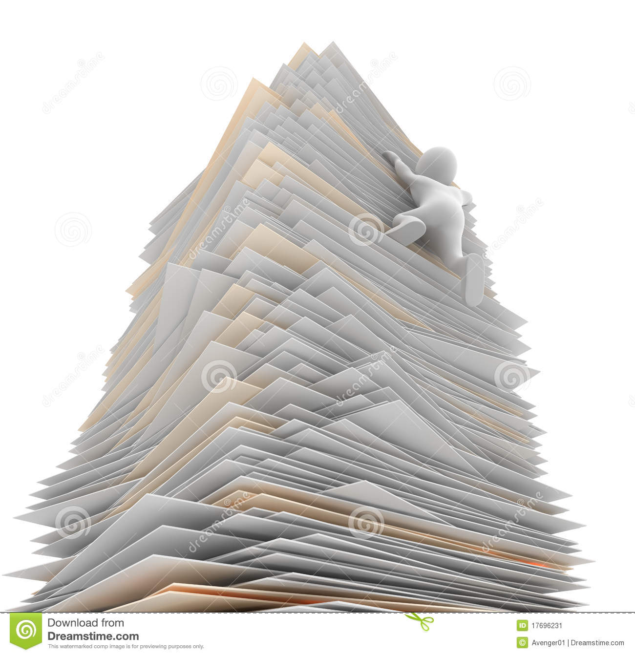 Paper Tower Stock Image Image 17696231