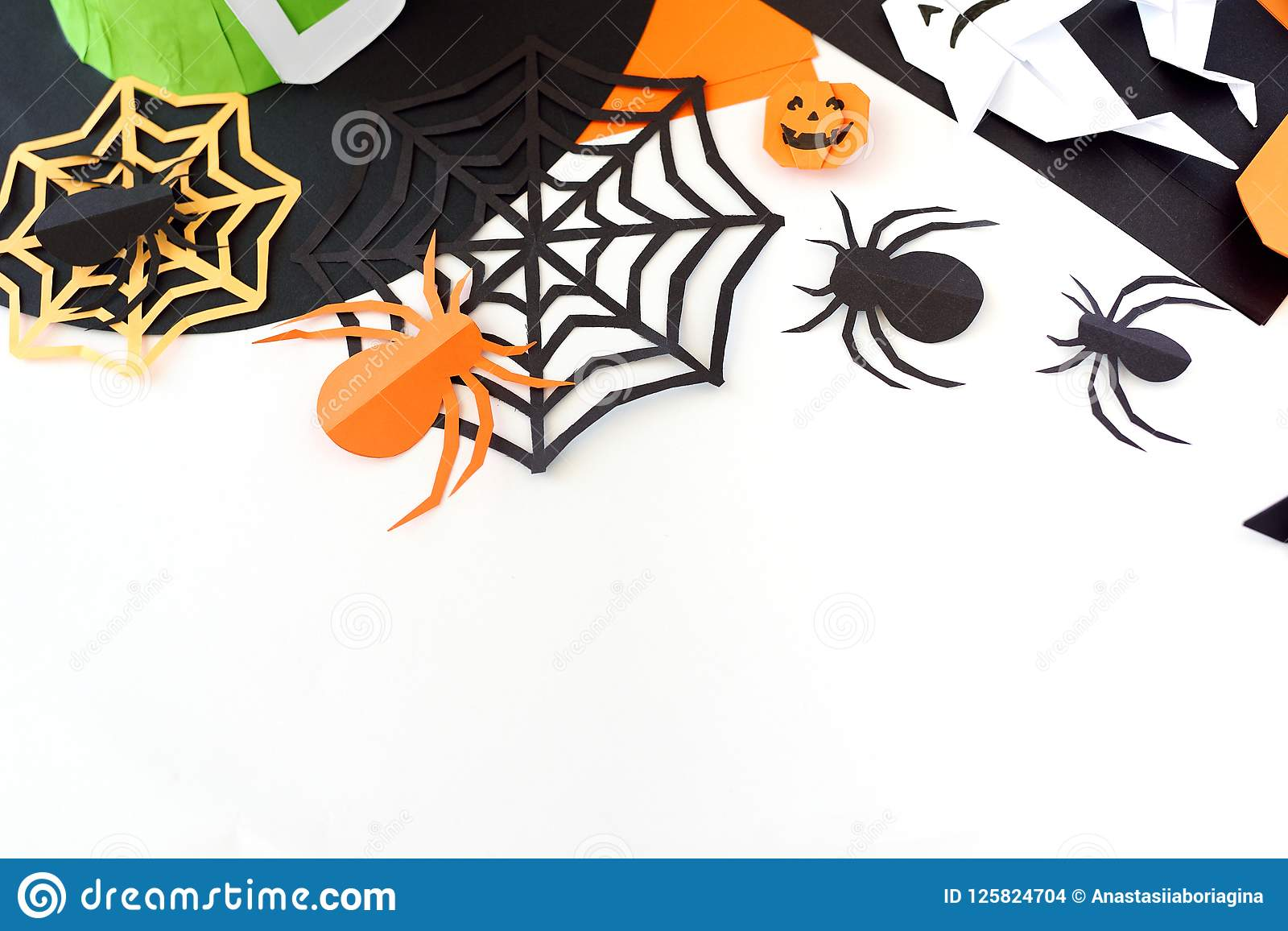 Paper Toys Origami For Halloween Preparation For A Holiday