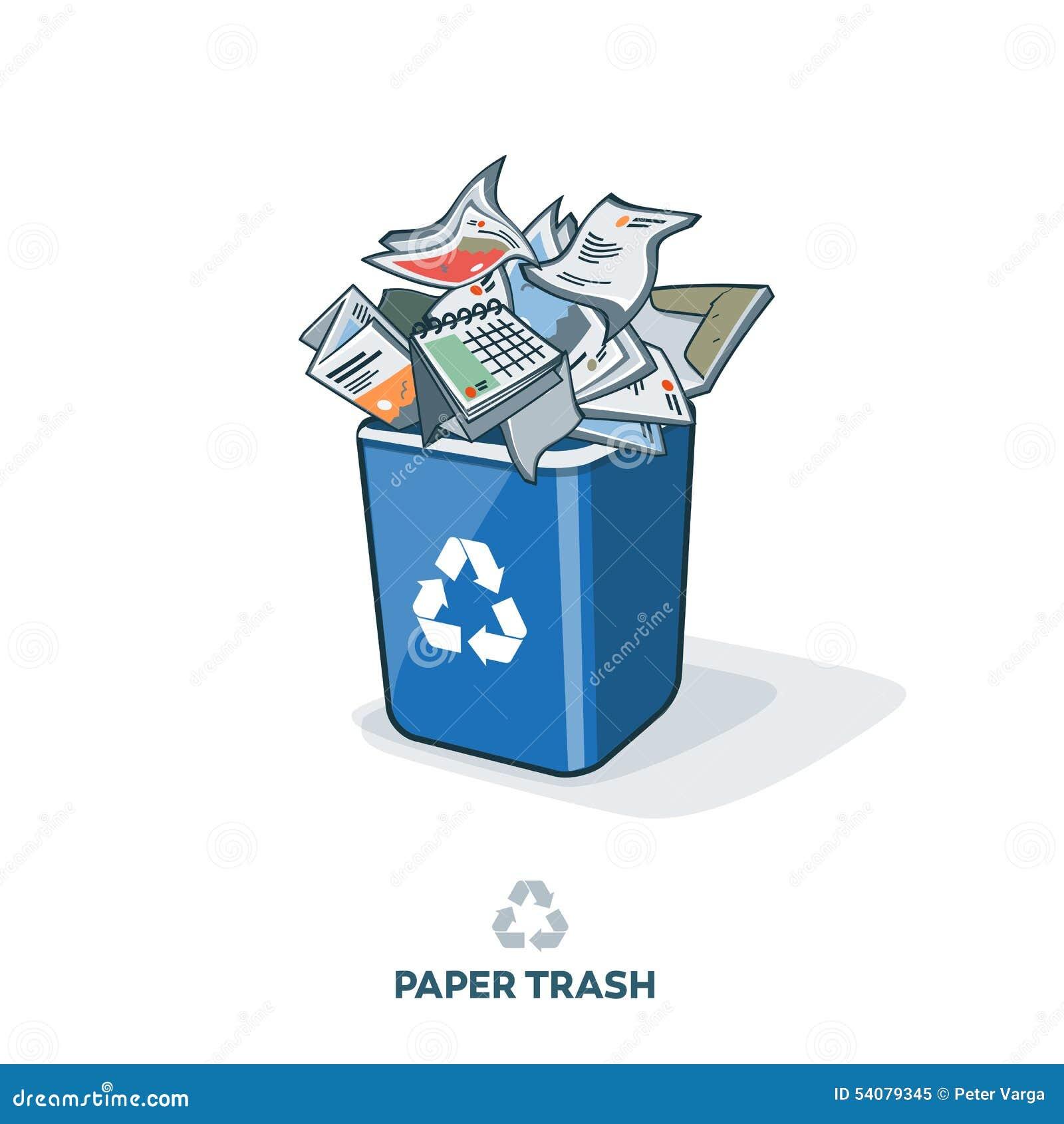 how to draw a recycle bin cartoon