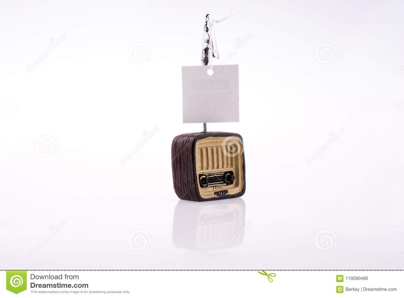 Paper on a TV stock image. Image of piece, design, background