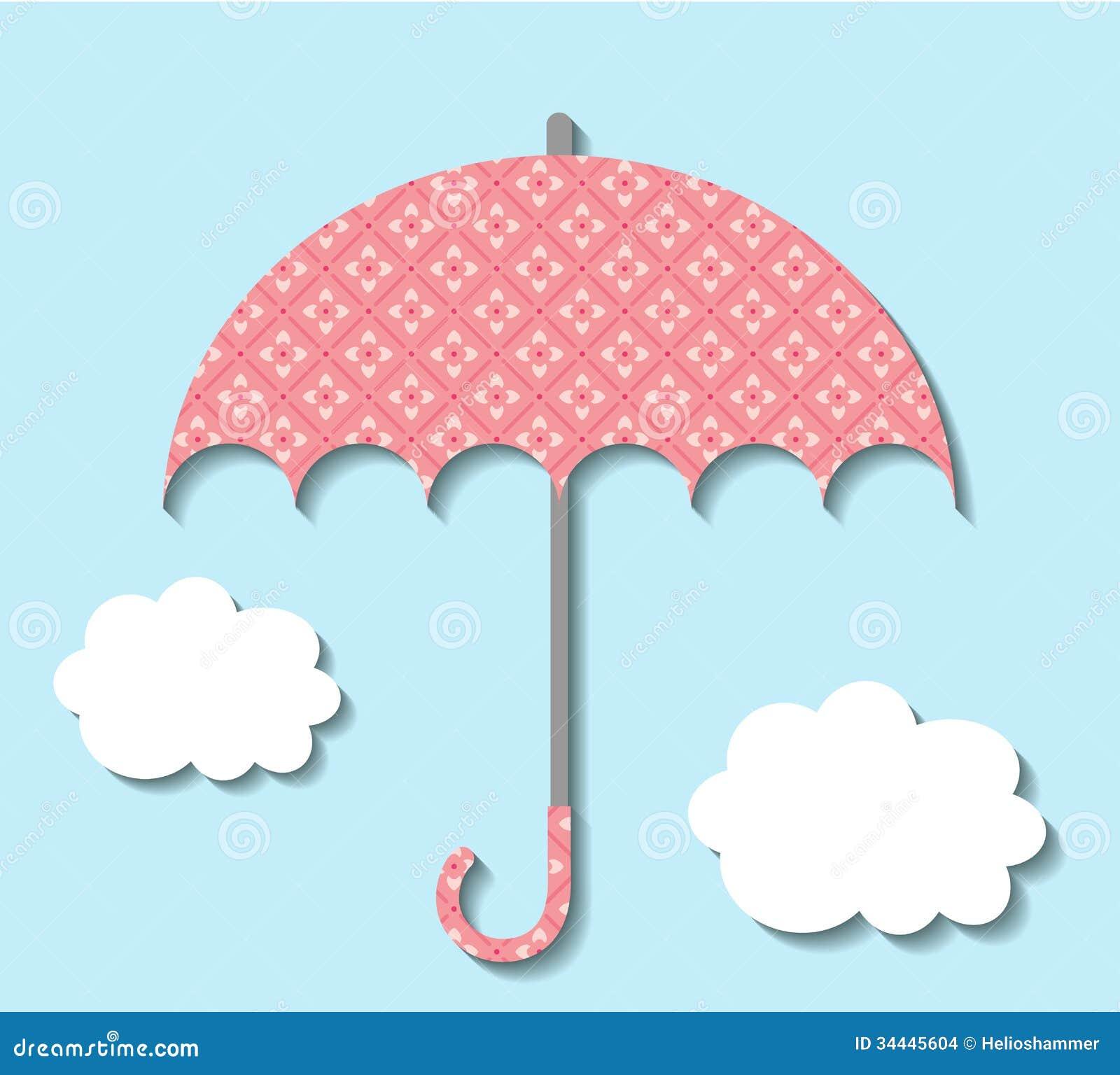 Scrapbook paper clouds - Paper Umbrella With Clouds