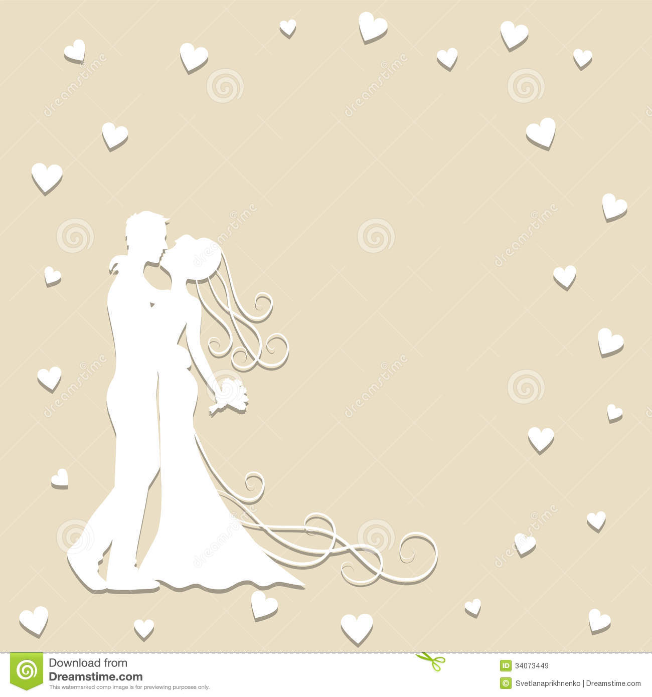 Wedding Paper: Paper Wedding Card Royalty Free Stock Images