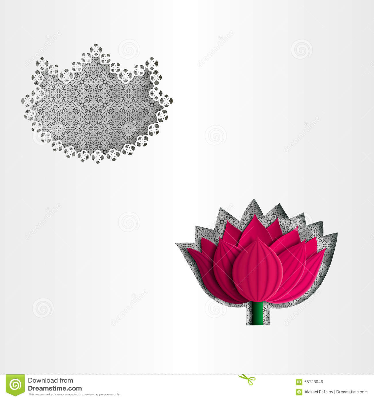 Paper white greeting card lotus flower stock vector illustration download paper white greeting card lotus flower stock vector illustration of card black mightylinksfo