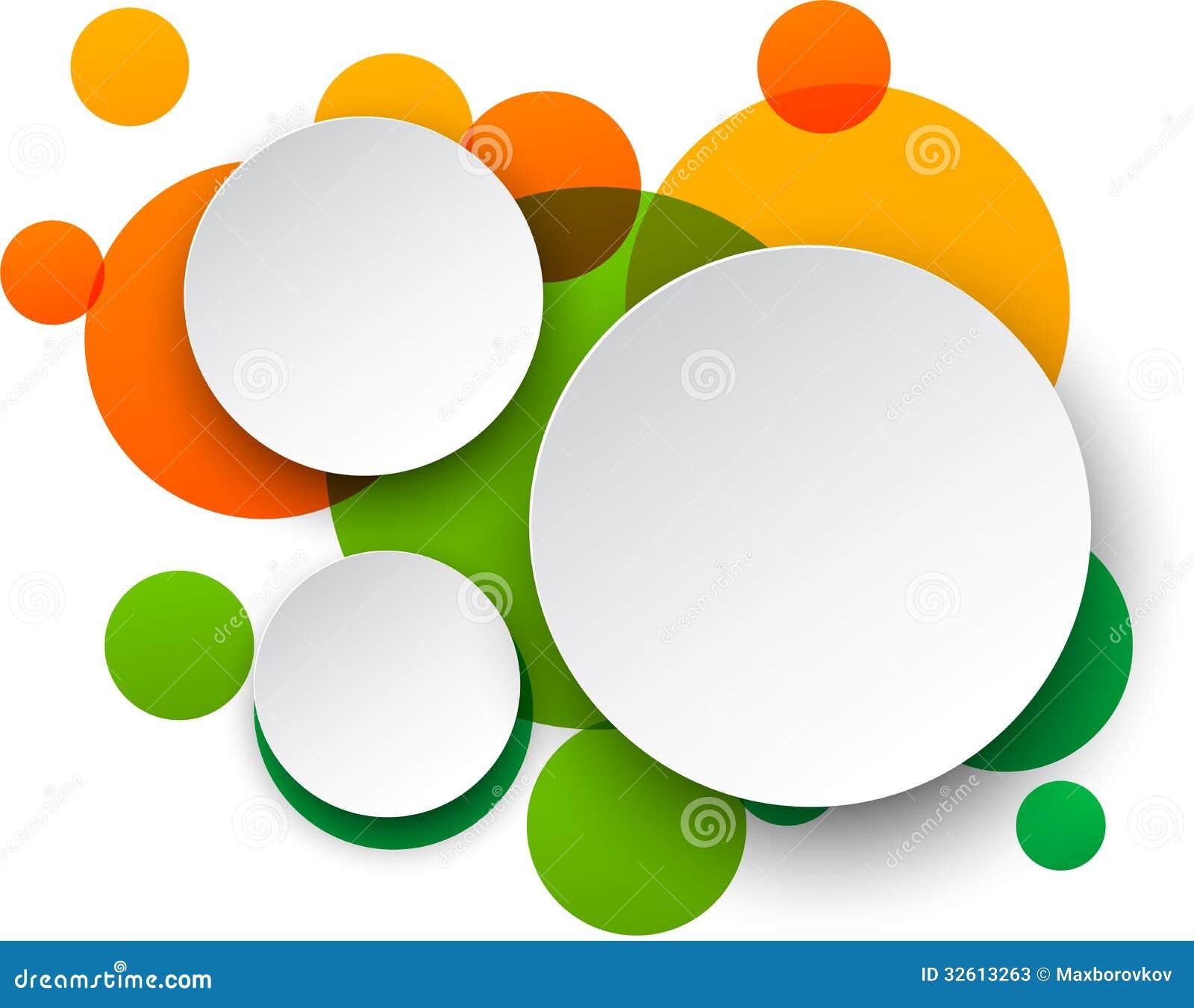 Paper White Round Speech Bubbles. Stock Vector - Image ...