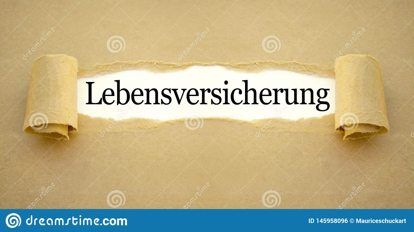 Paper work with the german word for life insurance policy - Lebensversicherung