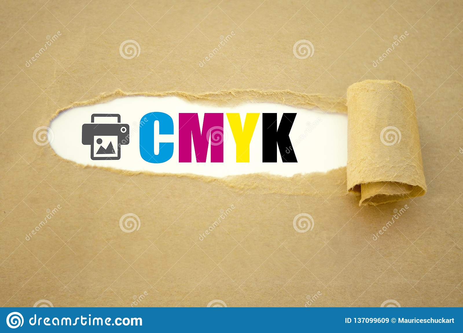 Paper work with CMYK