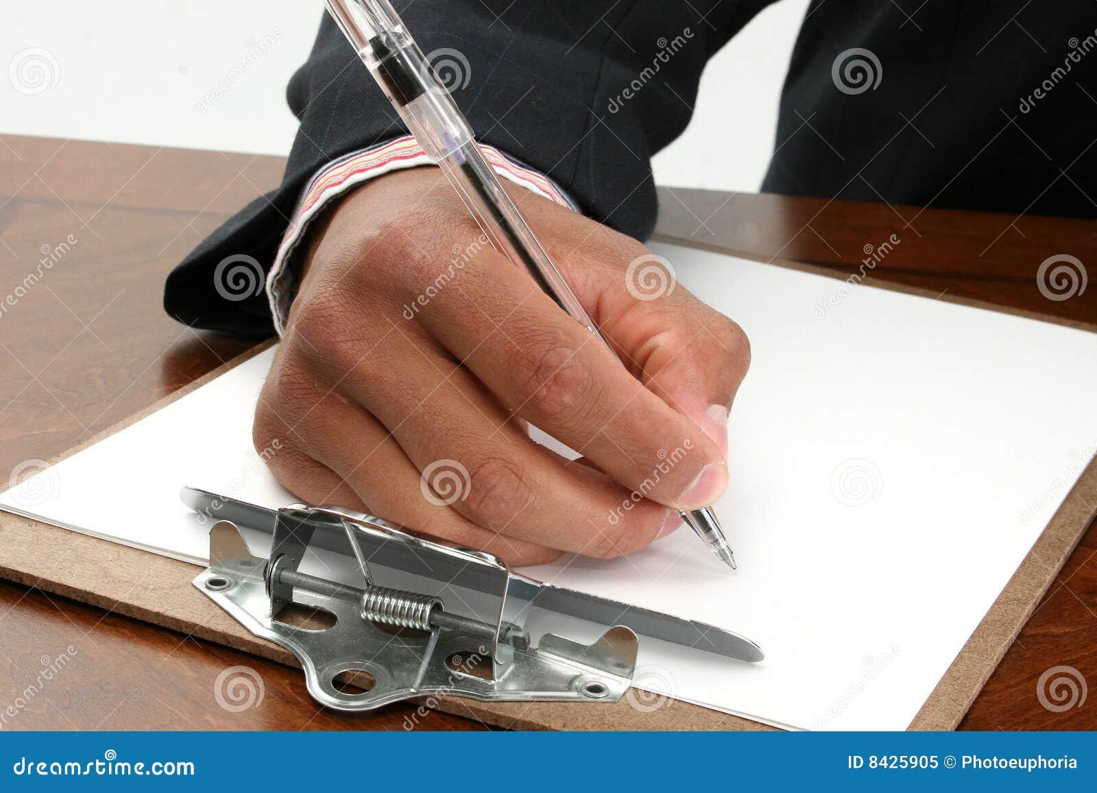 Paper writing för clipboard