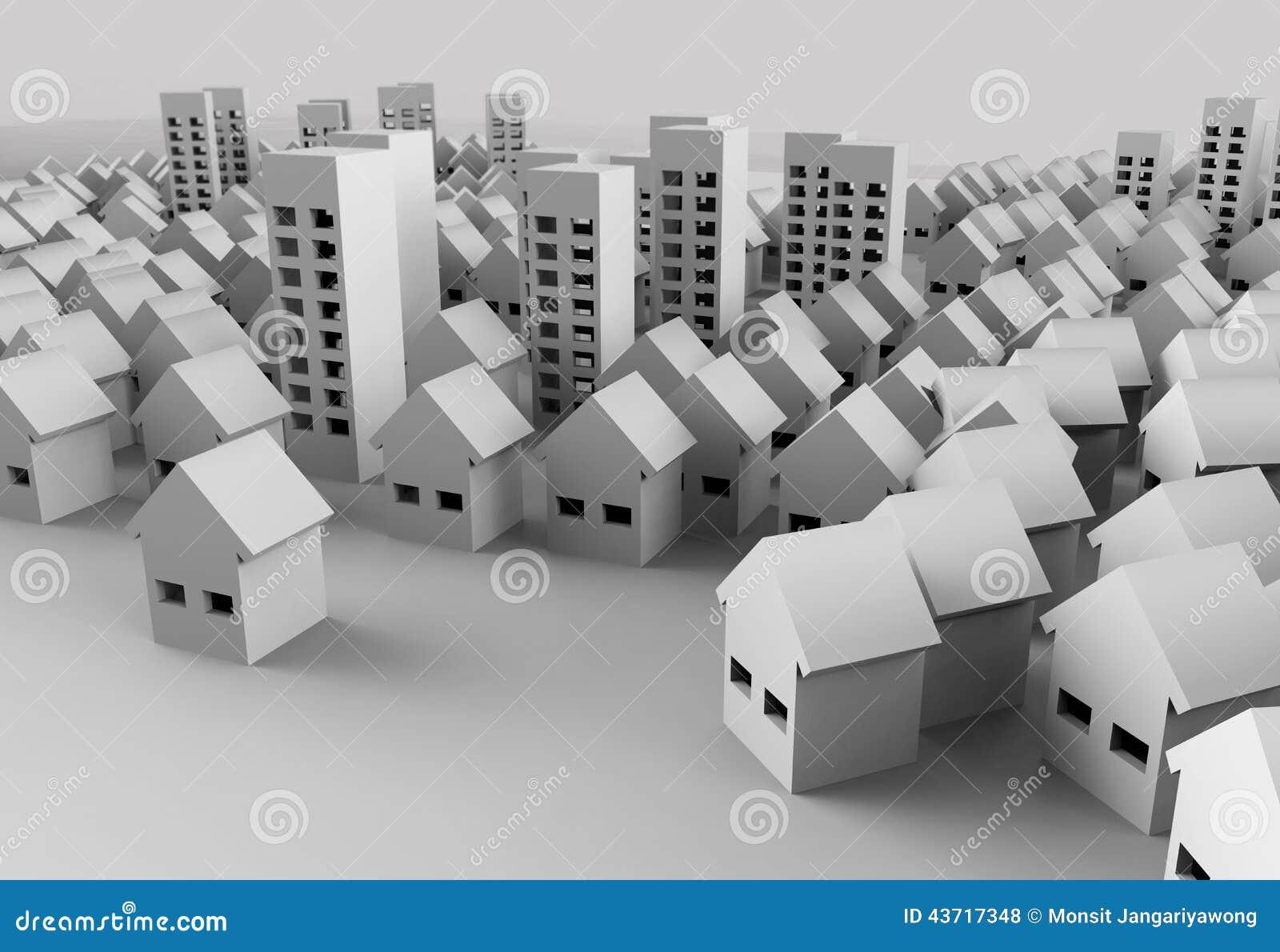 Papercraft Building stock illustration  Illustration of home