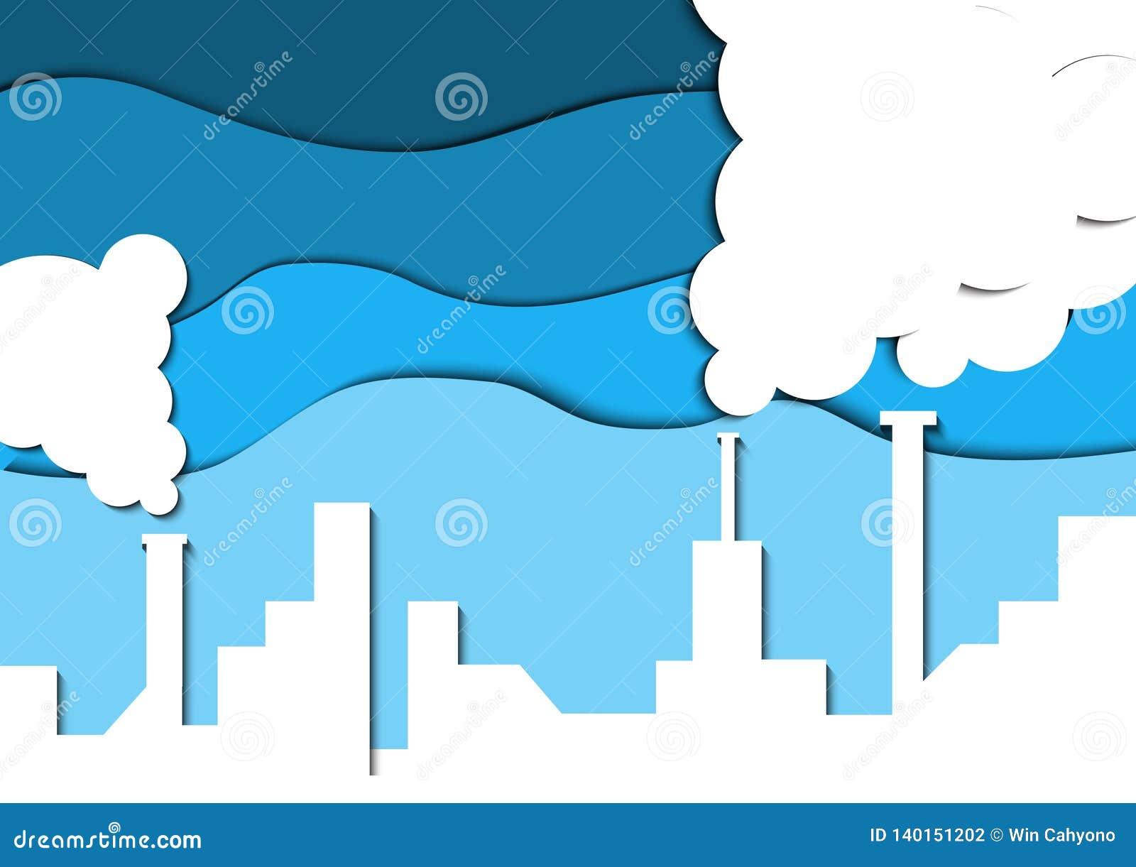 Papercut-Industrieabgase Außer Erde