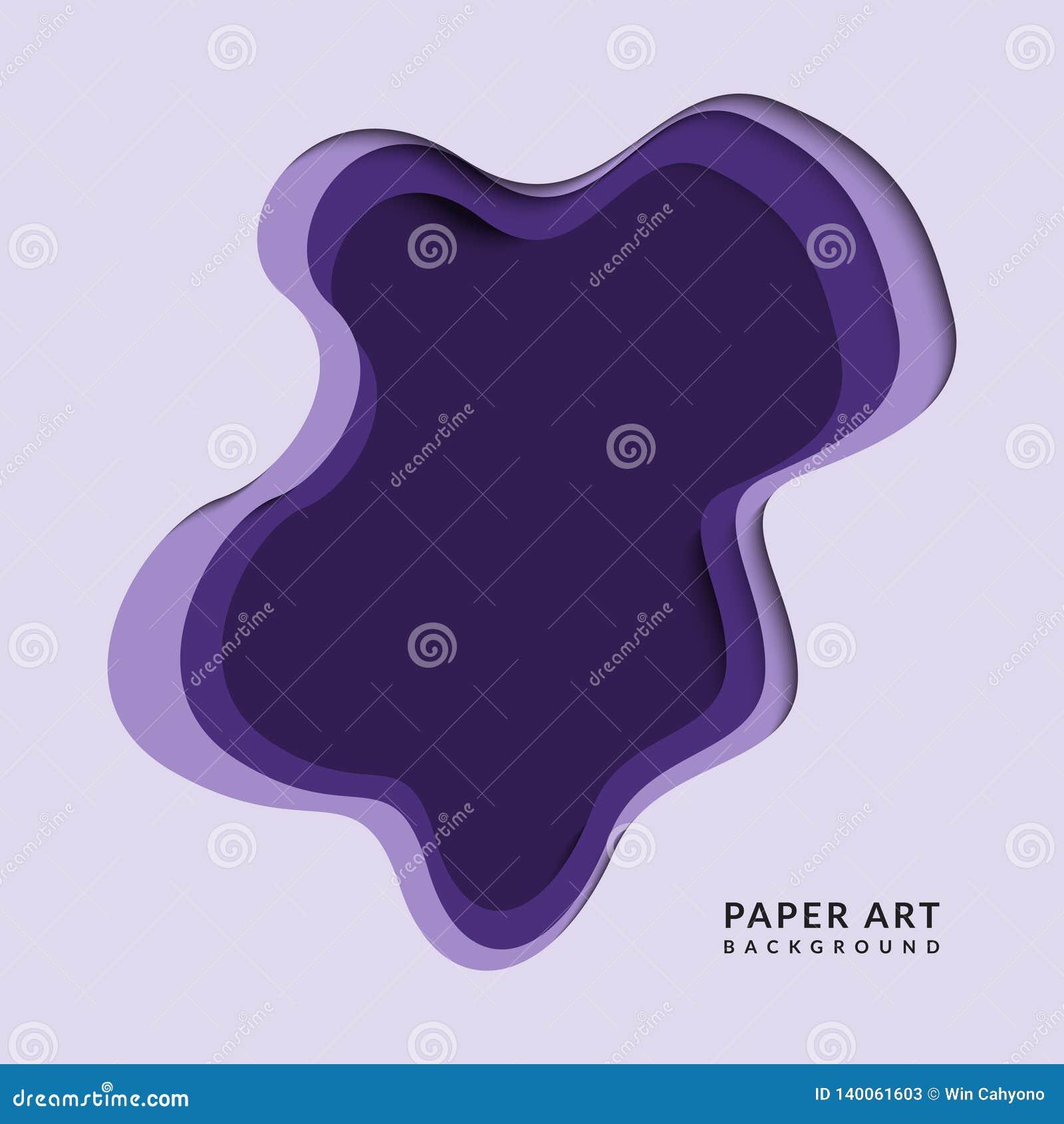 Papercut porpora astratto