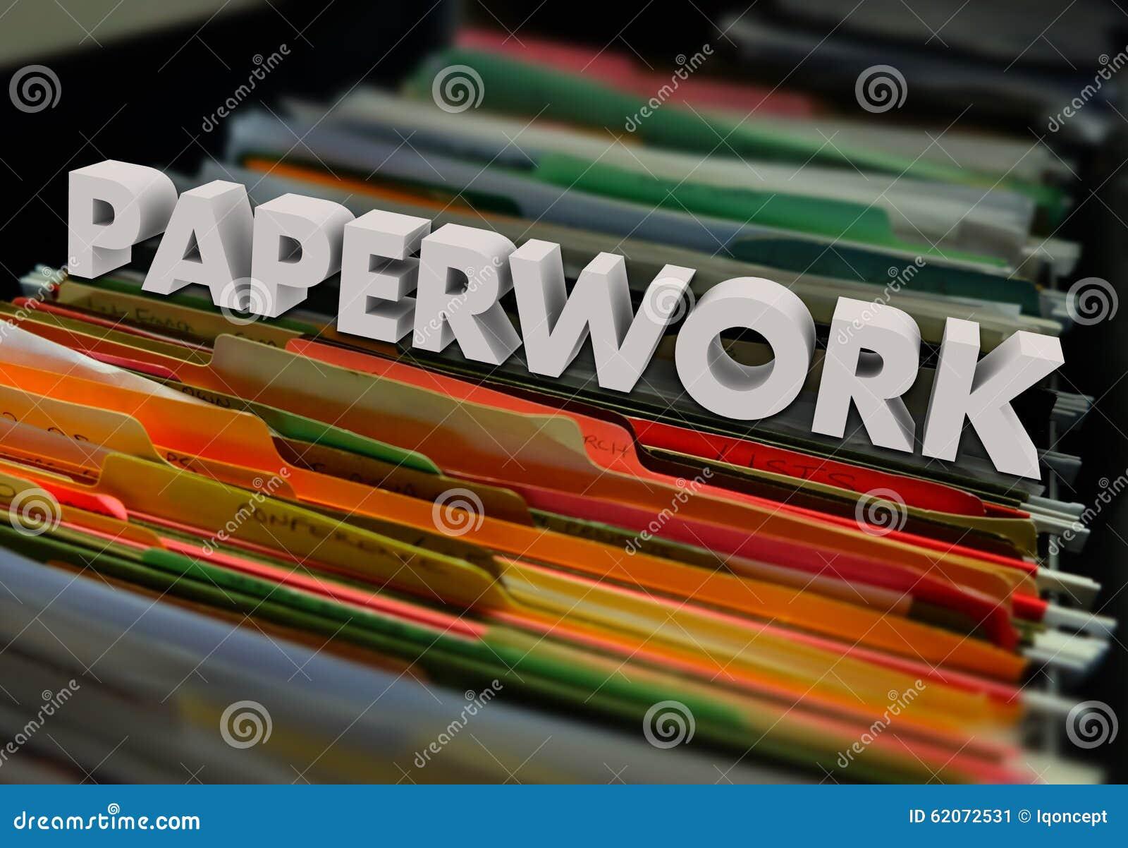 Paperwork File Folders Forms Processing Filing Stock Image