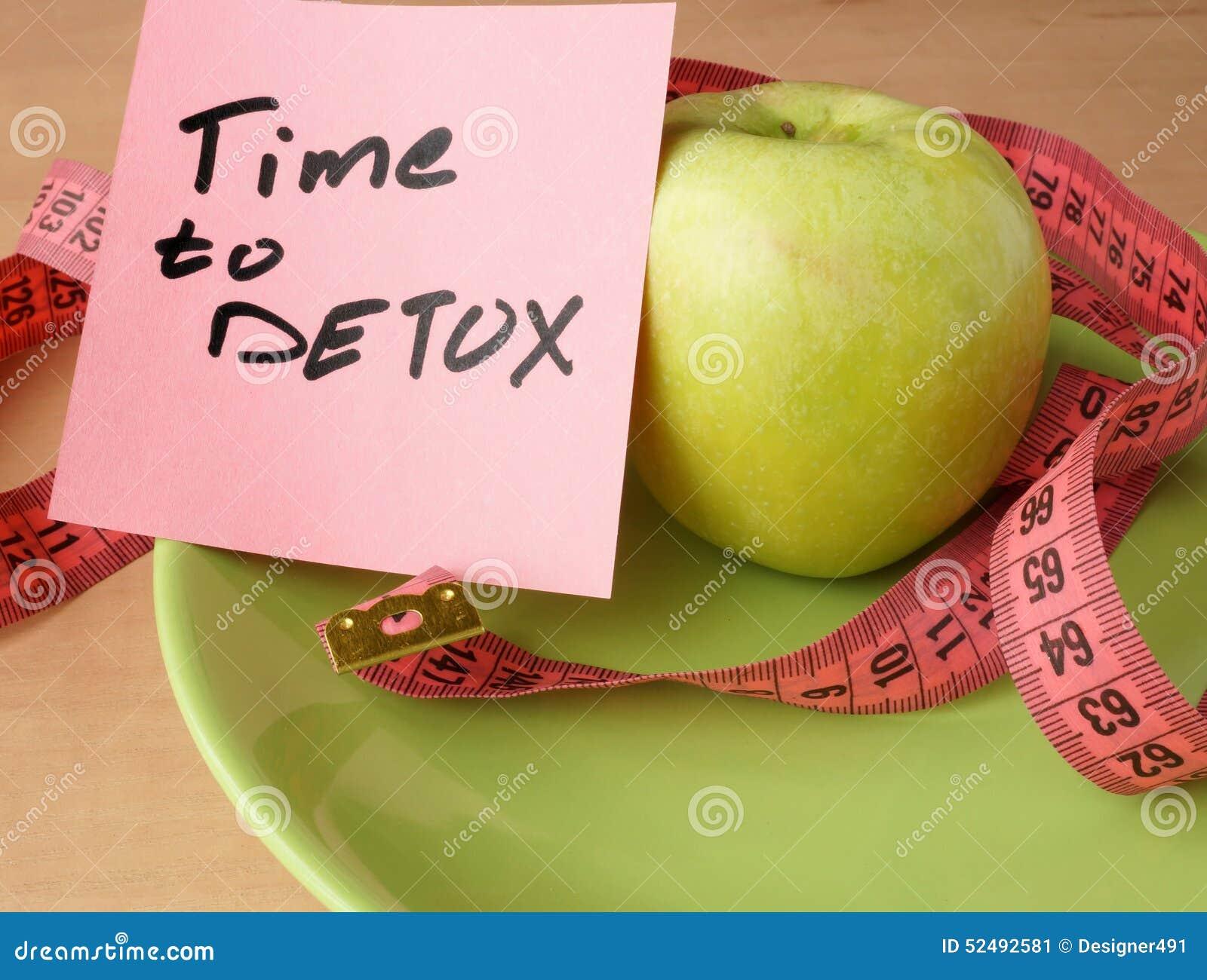 papier avec du temps au detox la pomme et la bande de mesure photo stock image 52492581. Black Bedroom Furniture Sets. Home Design Ideas