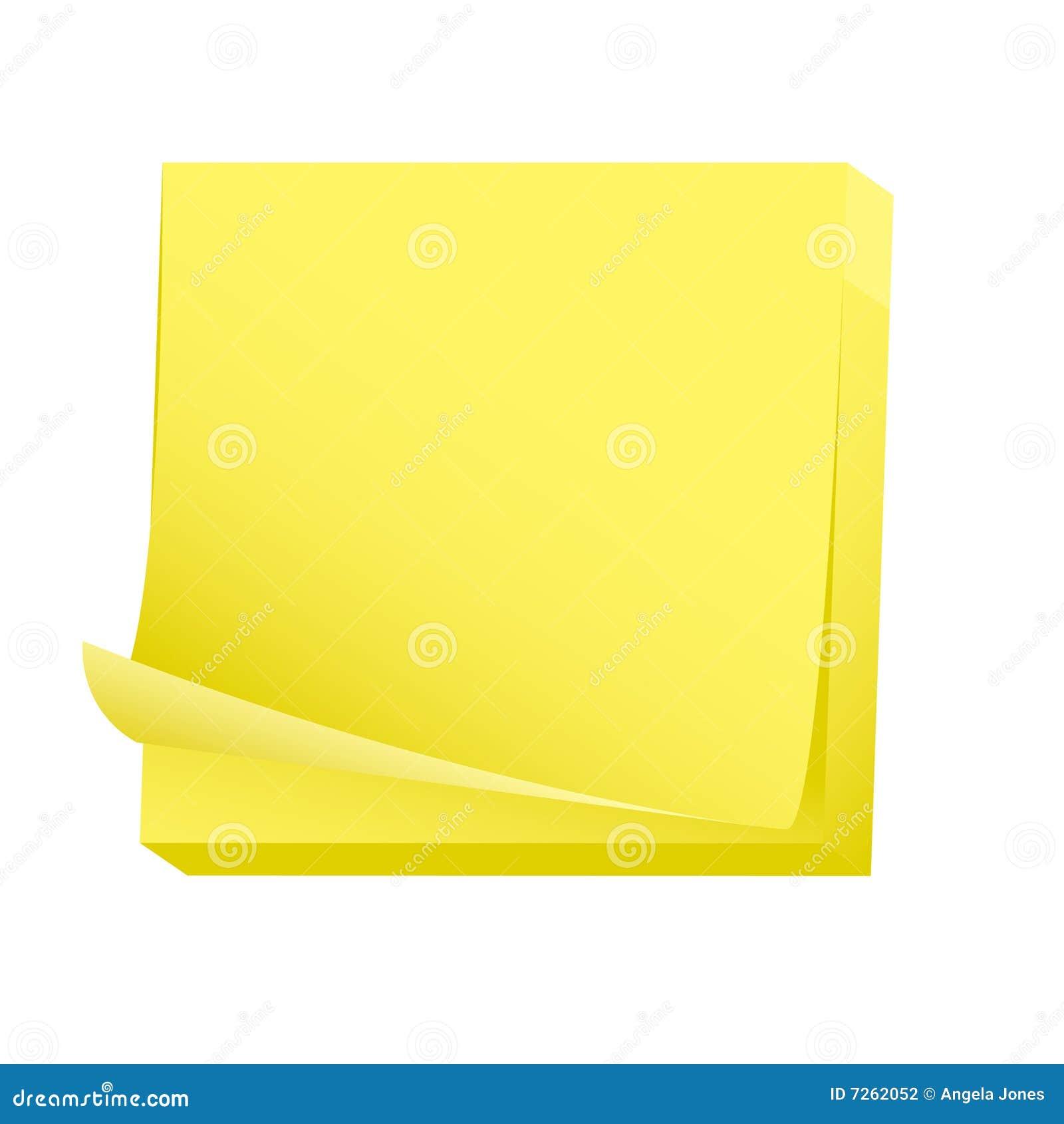 papier blanc de bloc notes collant photographie stock image 7262052. Black Bedroom Furniture Sets. Home Design Ideas