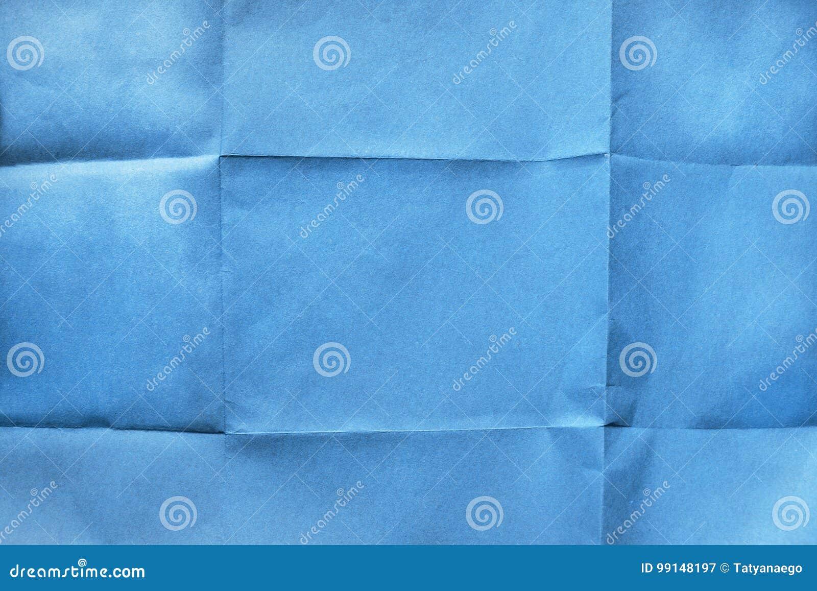 Papier bleu plié