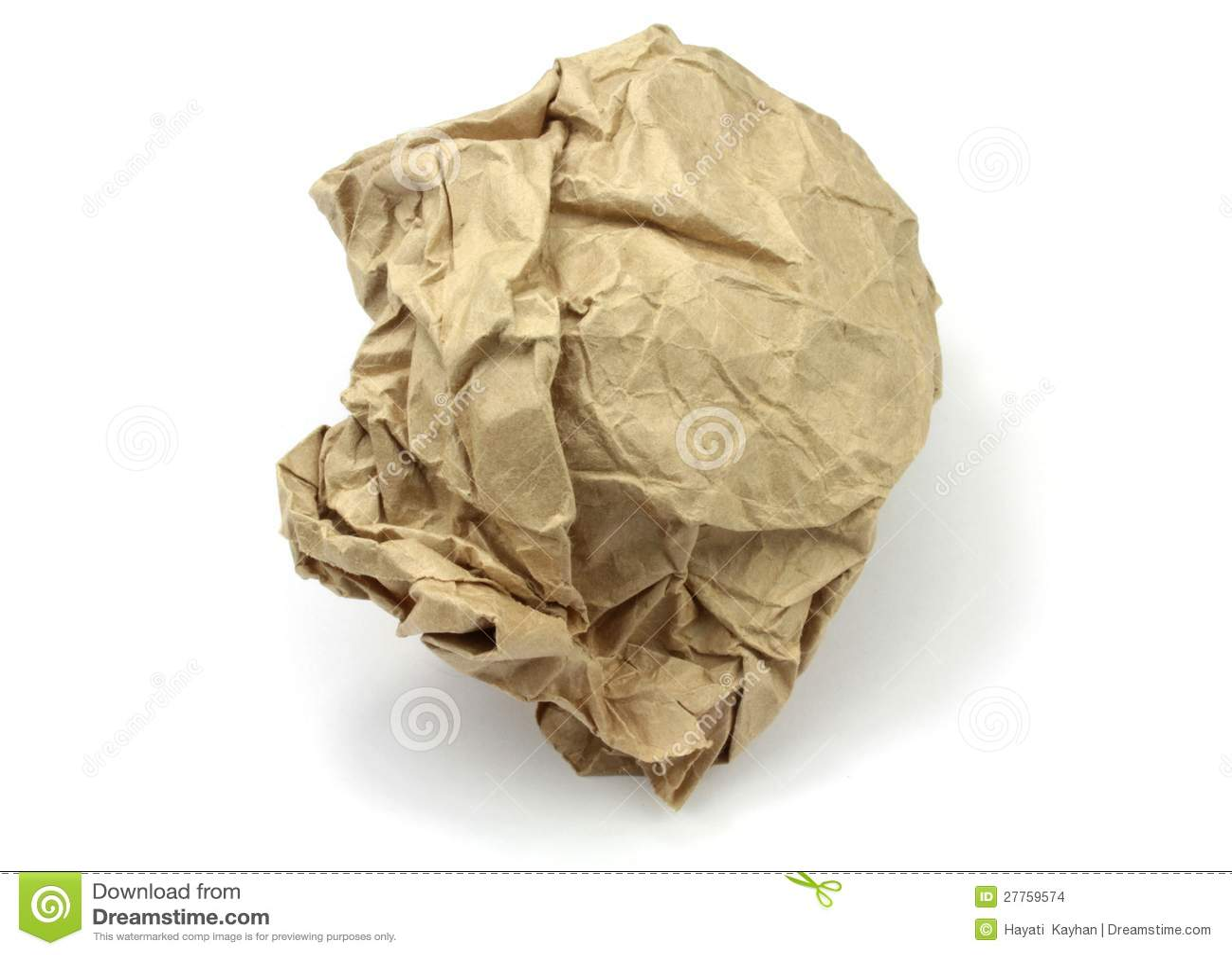 Papier brun chiffonné
