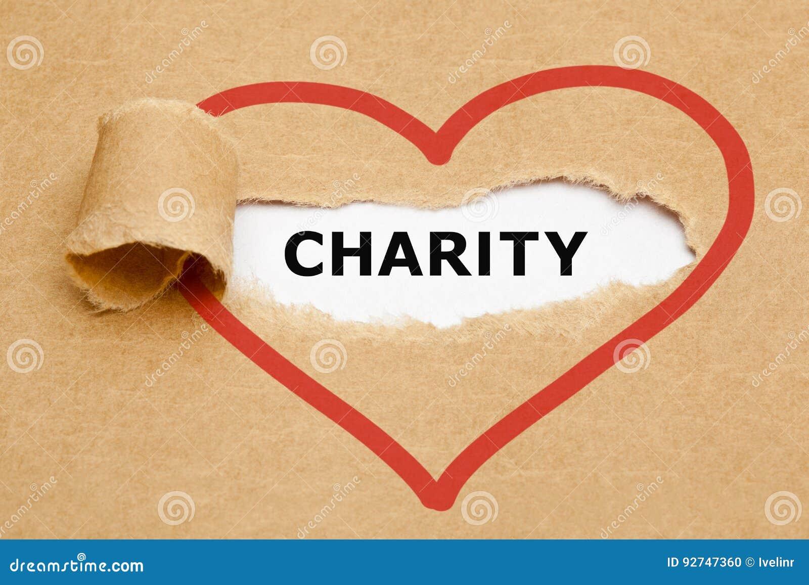 Papier déchiré par charité