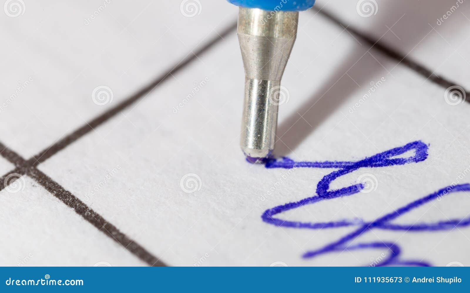 Papier długopis Makro-