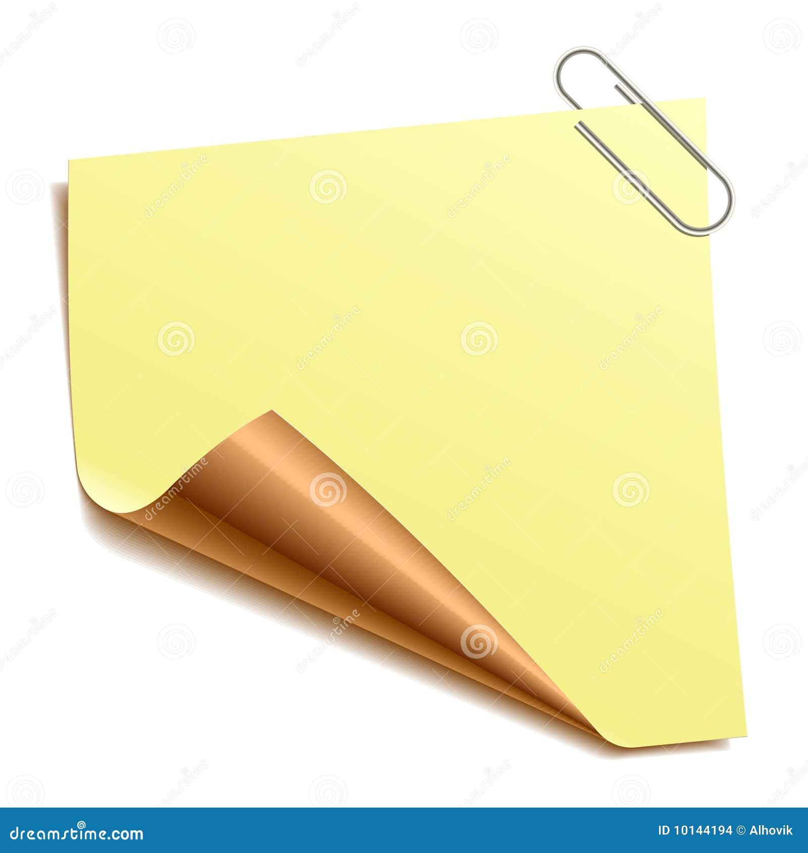 Papier de note de clip